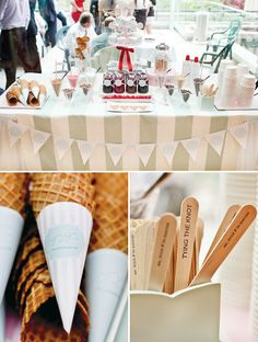 Vintage Ice Cream Parlor {Engagement Party}...Really cute ideas here!
