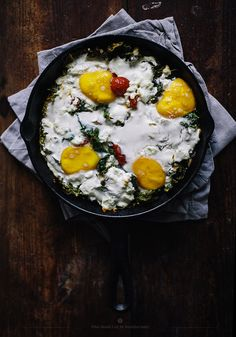 Baked Eggs with feta, kale and cherry tomatoes | what should I eat for breakfast today?