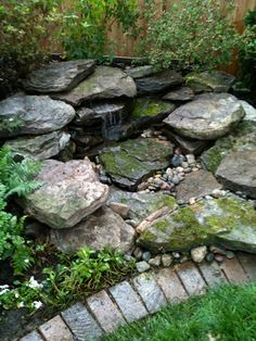 Natural Small Pondless Waterfalls..