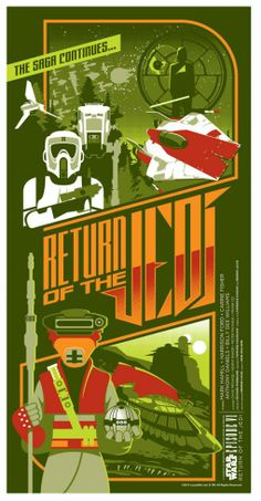 Star Wars Episode VI: Return of the Jedi (Fan Poster) | By: Mark Daniels, via Numerik