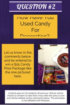 QUESTION #2 - Now it's time to win some candy!!