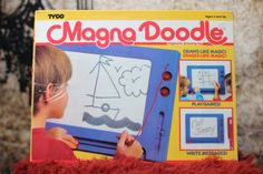 Magna Doodle, the circle pieces would get lost, the pen would break off the string, then after you had it for a while the ink would become etched in the board and wouldn't erase! Yet I still loved this toy!