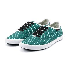 Betty Dotted Low Canvas ShoesFree Shipping at VANCL