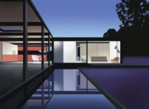 """Award-winning prints from the Mid-Century Modern Collection.  This one is """"Reflection""""."""