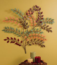 Autumn Branch Metal Wall Art