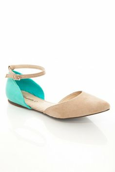 Dolley Flats in Taupe Mint