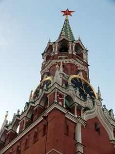 Spasskaya-tower-with its famous clock. Kremlin's main tower.