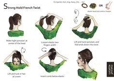 peinado French Twist