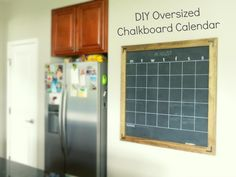Moving to the Country: DIY Chalkboard Calendar