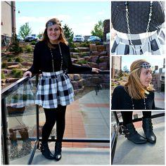 Plaid skirt/ classic