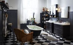 The key to a beautiful bathroom is storage! Keep everything (shampoo, toothpaste and those embarrassing, private products) out of sight and nicely organised. See IKEA's HEMNES mirror cabinet, a chic and practical cabinet that can work in any bathroom.