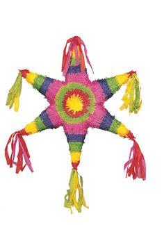 Una piñata con forma de estrella, de www.fiestafacil.com.
