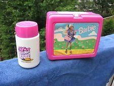 90's pink plastic barbie lunchbox.
