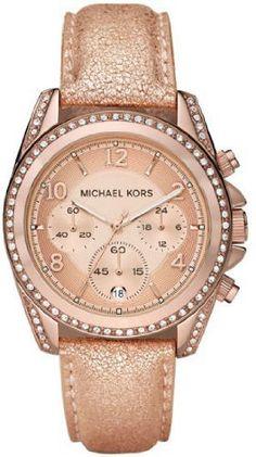 Michael Kors Blair Ladies Chronograph Rose Gold Women's Watch