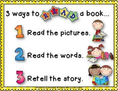 Daily 5 Goodies--3 Ways to Read a Book