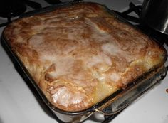 Mom's Peach - The best part is the top is crunchy and cracks with the sugar/water. It's so delicious! This is by far the best cobbler I've ever eaten - and it's great that I can make it myself. And it's a dessert with no eggs! It's my go-to for potlucks... I highly recommend you try this ASAP! You won't be sorry - especially if you have some vanilla ice cream on the side.