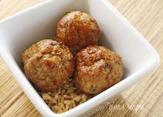 Asian Turkey Meatballs With Lime Sesame Dipping Sauce by skinnytaste #Turkey_Meatballs #skinnytaste
