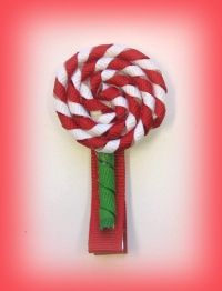 How To Make Lollipop, Candy Cane Hair Bow Clips Instruction