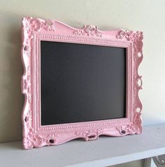 Wedding Sign Pink CHALKBOARD w/ Easel Birthday Party Decoration Nursery Photo Prop Magnetic Ornate Picture Frame Baby Gift- MORE COLORS on Etsy, $56.00