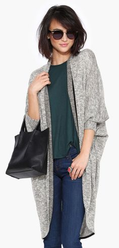 Longer Grey Cardigan