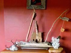 Creative driftwood boat idea. Keswick Island Guest House.