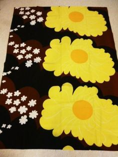 Tampella-Finland-Vintage-70s-Original-Fabric-Sunny-OBS-ISSUES