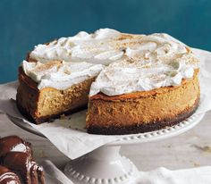 Pumpkin Cheesecake | Get the recipe: http://www.realsimple.com/food-recipes/browse-all-recipes/pumpkin-cheesecake-00100000089160/index.html