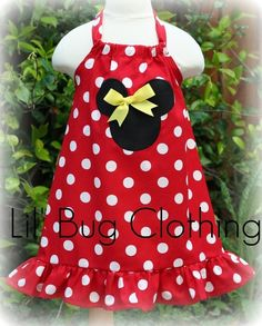 Custom Boutique Clothing Red White Dot Minnie by LilBugsClothing, $34.00