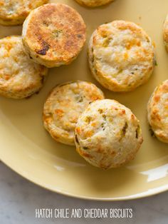 Hatch Chile and Cheddar Biscuits #biscuits