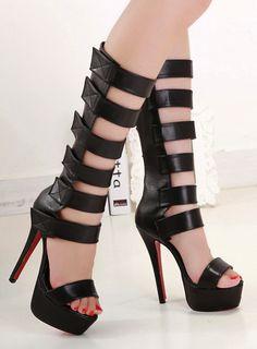 Stiletto High Heel Gladiator Sandals