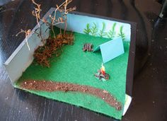 Camp Diorama Box Craft: Summer Crafts for Kids - Camp Crafts, Scout Crafts - Kaboose.com