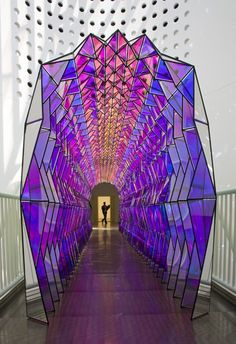One-way color tunnel by Olafur Eliasson