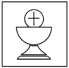 Chalice template | chalice and host colouring pages more