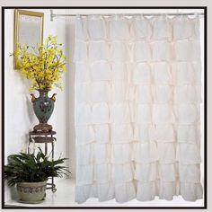 Ruffle Shower Curtain - Bathroom