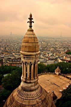 Paris from Sacre Coeur, France