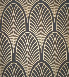 Wallpaper or decal. I want fabric like thus to make a valance maybe. This could be a border too.   http://welcomecompany.files.wordpress.com/2013/08/art-deco-pattern-3.jpg?w=375