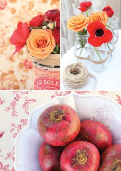 Red pink and peach wedding on pinterest peonies wedding - Peach and red combination ...