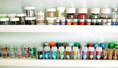 picture ledge shelves for small jars and bottles