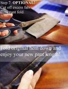 Hemming Pants With Original Hem