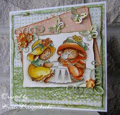 Tea Time (T4114) card by Kirsi Kamppikoski