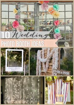 DIY Wedding Photo Booth Ideas // The Girl Creative
