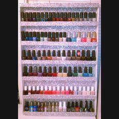 DIY nail rack