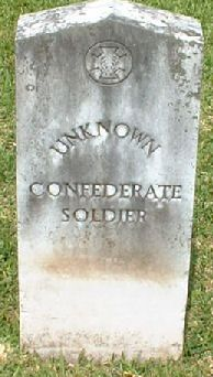 Unknown Confederate Soldier by civil war grave sites, via Flickr