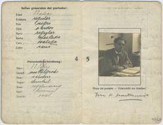 Pasaporte original de José Fernández Montesinos expedido el 31 de agosto de 1931 por el Consulado General de España en Hamburgo. Fondo José Fernández-Montesinos.   http://aleph.csic.es/F?func=find-c&ccl_term=SYS%3D000088547&local_base=ARCHIVOS