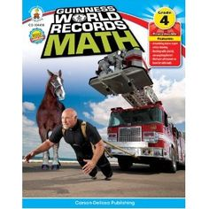 #Guinness World Records #math workbooks, available for grades 3, 4, and 5.