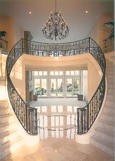 Love the double staircase..