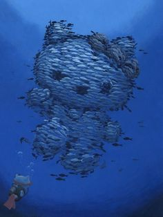 Hello Kitty. is this weird and creeoy or naaaaaahhhhhhh.....its a hello kitty made out of thousands of fish.. like seriously
