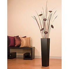 green floral, lotus pod, living rooms, floors, floral craft, floor vase, tall black, live room, black floor