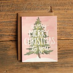 Very Merry Christmas Illustrated Card of 8 Boxed Set, $19.00
