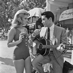 Ann-Margret & Elvis on the set of Viva Las Vegas (1964) #Elvis #movies #Hollywood